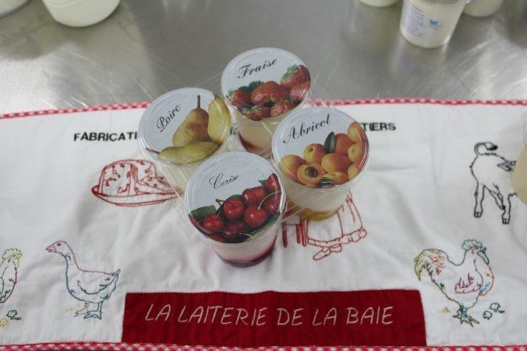 Yaourt sur fruits par 4x125 gr (panachés)