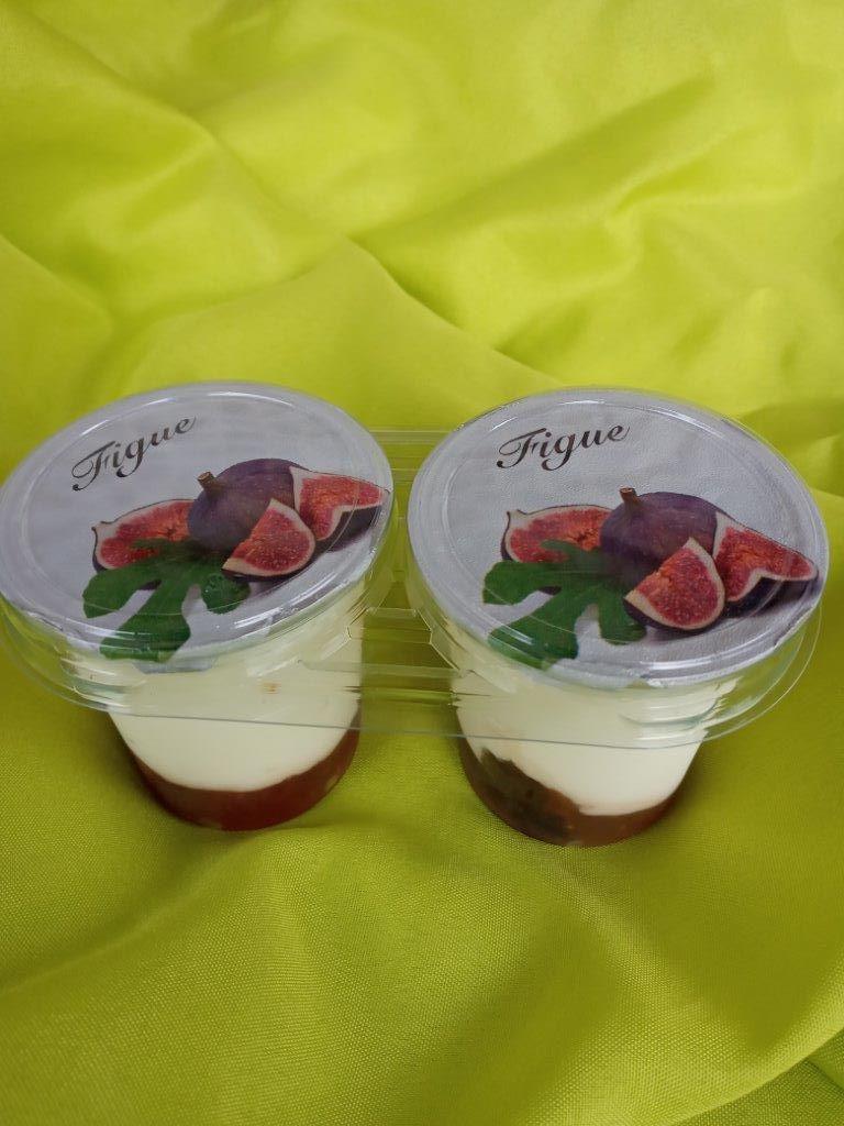 yaourt brassé sur lit de figue par 2x125 gr