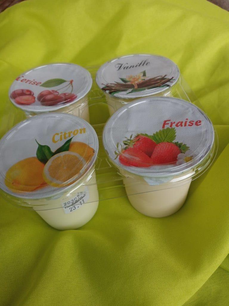 Yaourt aromatisé au lait entier par 4x125gr