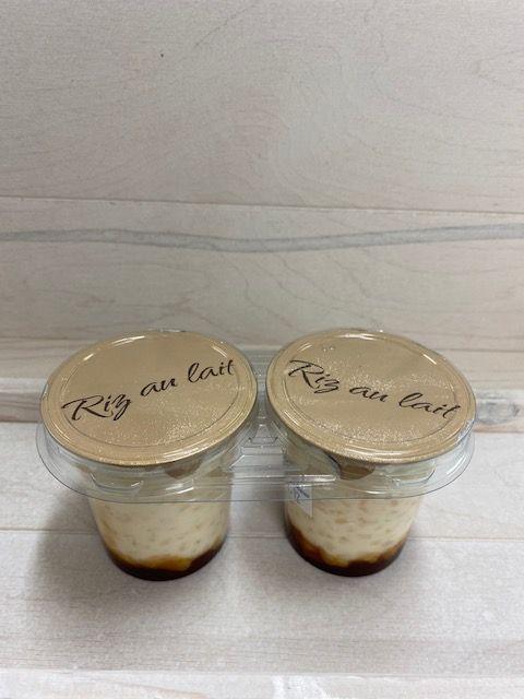 Riz au lait sur lit de caramel par 2x125gr