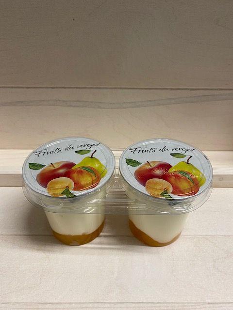 Yaourt brassé sur fruits du verger par 2x125gr
