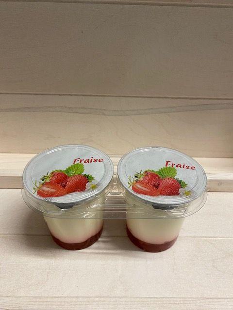 Yaourt brassé sur lit de fraise par 2x125gr