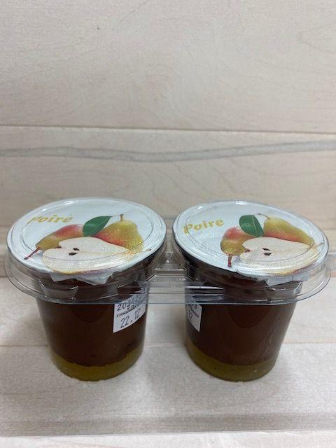 Crème dessert choco-poire par 2x125gr
