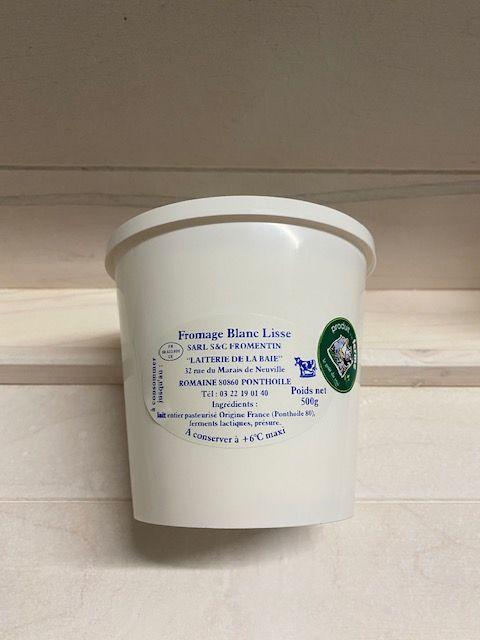 Fromage Blanc Lisse au lait pasteurisé pot de 500gr