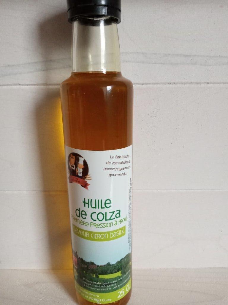 Huile de colza saveur Citron Basilic 25cl