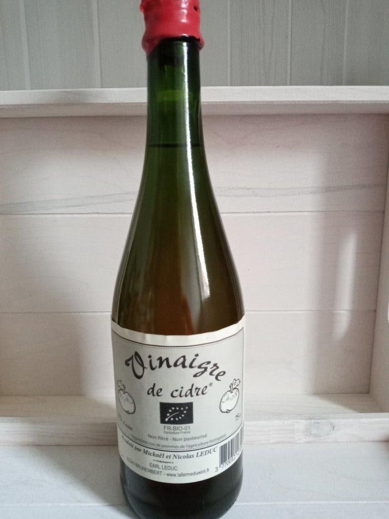 Vinaigre de cidre Bio 75 cl