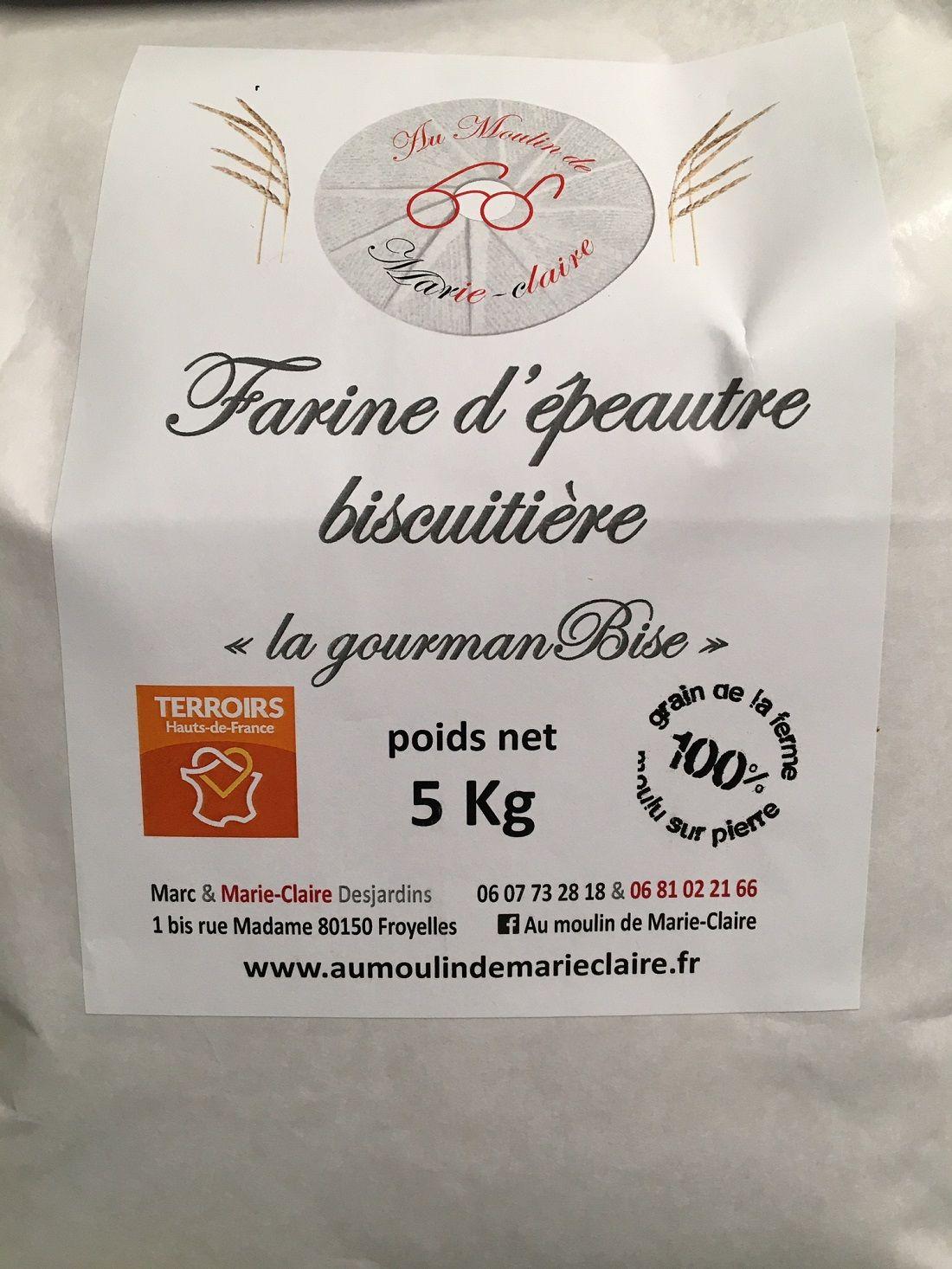 """Farine d'épeautre biscuitière """"La GourmanBise """" - 5 kg"""