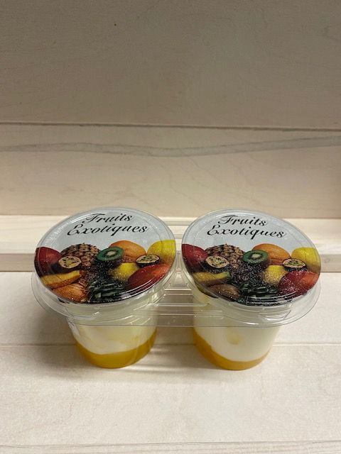 Yaourt brassé sur lit de fruits exotiques par 2 x 125 gr