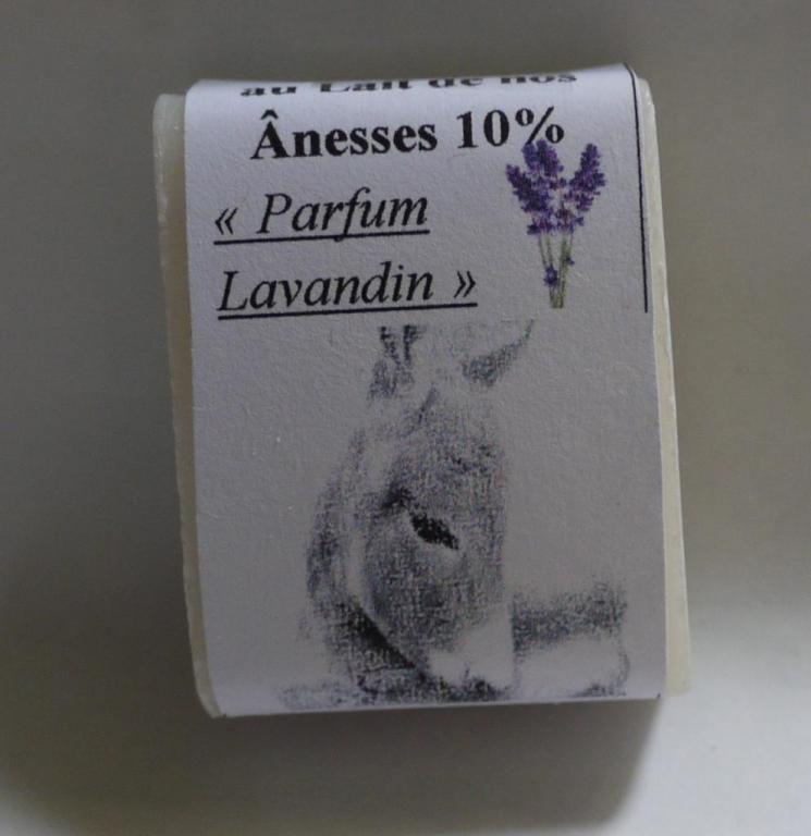 Savon au lait d'ânesse (Huiles Essentielles de Lavandin) - 25g