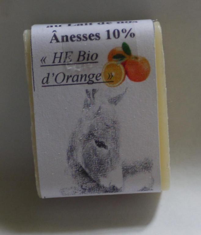 Savon au lait d'ânesse (Huiles Essentielles d'Orange Bio) - 25g